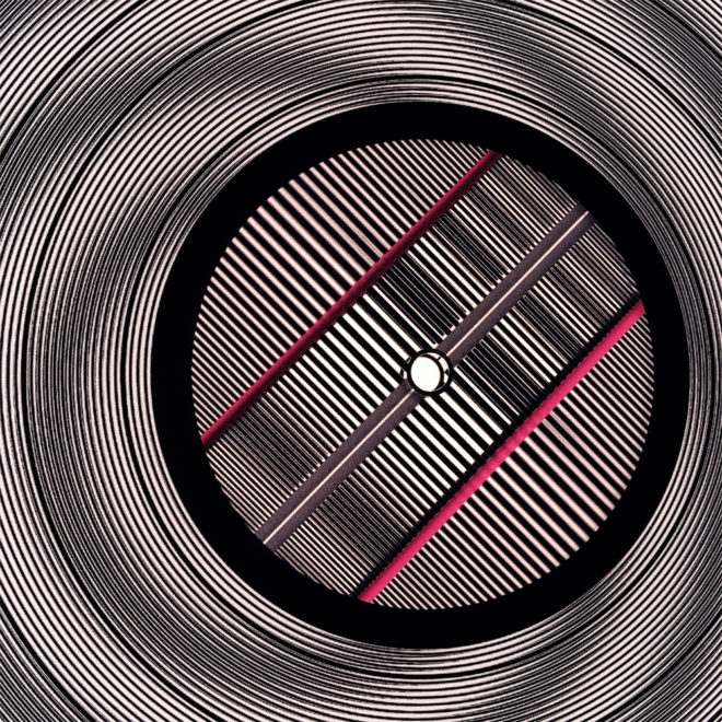 Zone Plate 11x11 Lightbox (Close-Up) - Spinning Lux Records Op Art by Mini-Cinema