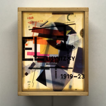 El Lissitzky Proun Mashup - Multiple Print Depth Effect - 11x9 Led Lightbox by Mini-Cinema