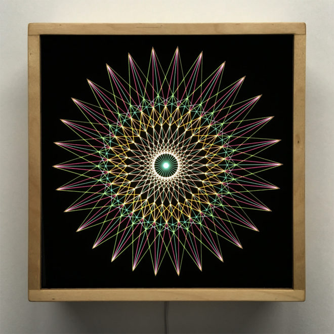 Spirograph Design 1 - Abstract Pattern Optical Effect - 12×12 Lightbox by Mini-Cinema