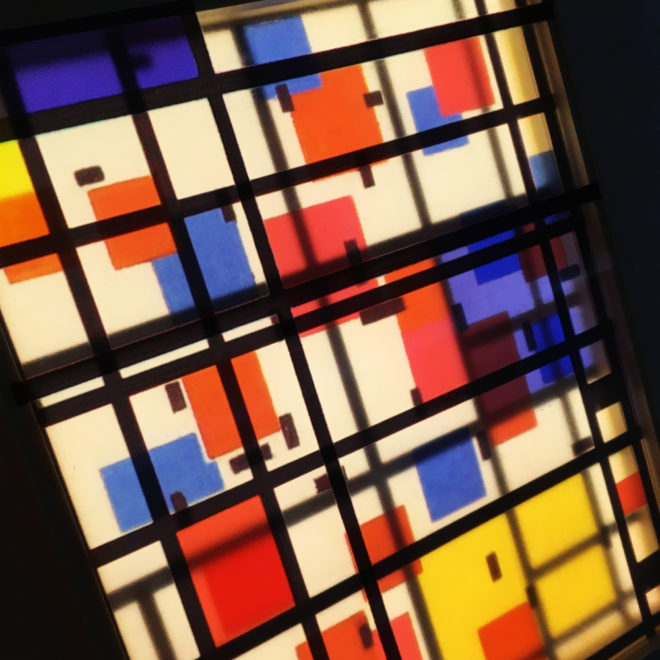 Mondrian Mashup - Multiple Print Depth Effect - 11x9 Led Lightbox by Mini-Cinema (Detail2)