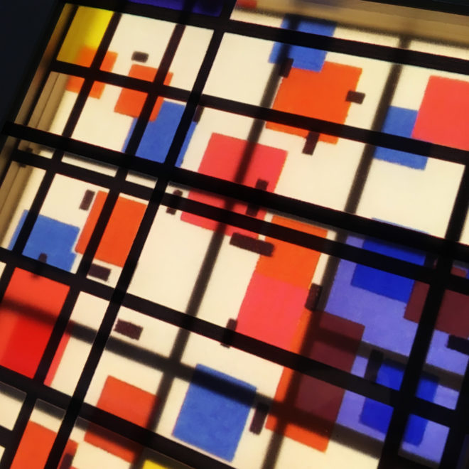 Mondrian Mashup - Multiple Print Depth Effect - 11x9 Led Lightbox by Mini-Cinema (Detail3)