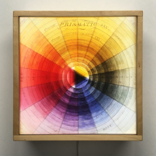 Prismatic Color Wheel - Multiple Print Depth Effect - 12x12 Led Lightbox by Mini-Cinema