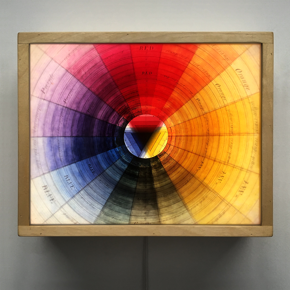 Prismatic Color Wheel Multiple Print Depth Effect 12x12 Led