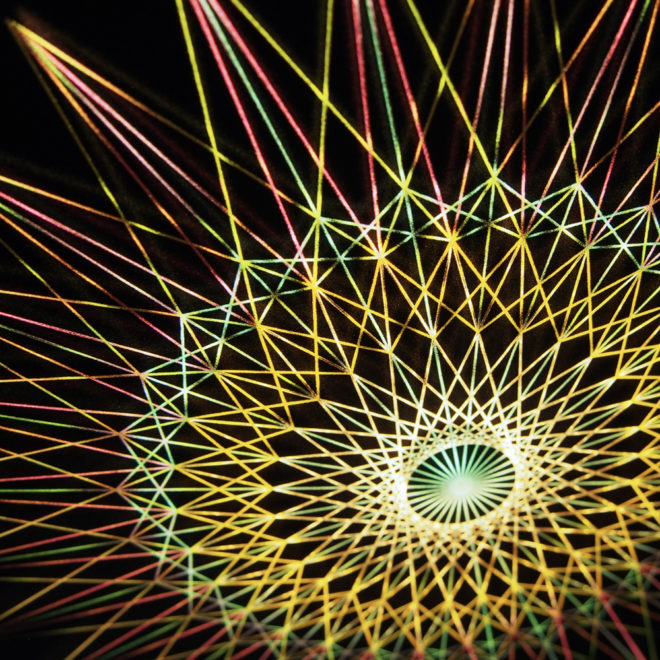 Spirograph Design 1 - Abstract Pattern Optical Effect - 12×12 Lightbox by Mini-Cinema (Detail2)