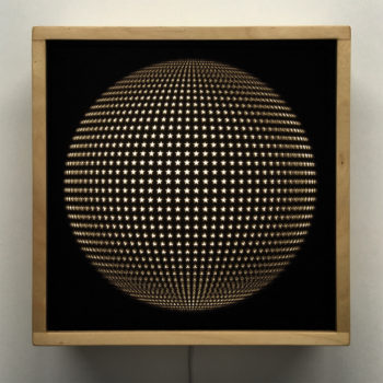 Starlight Disco Ball - Abstract Pattern Optical Effect - 12×12 Lightbox by Mini-Cinema