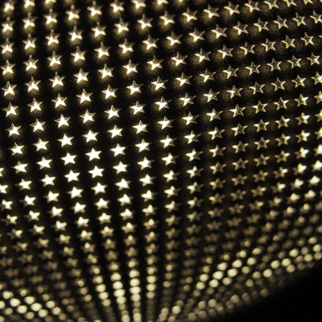 Starlight Disco Ball - Abstract Pattern Optical Effect - 12×12 Lightbox by Mini-Cinema (Detail)