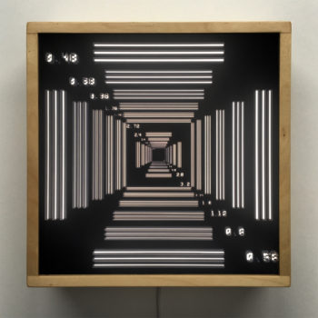 Test Chart Vortex - Abstract Pattern Optical Effect - 12×12 Lightbox by Mini-Cinema