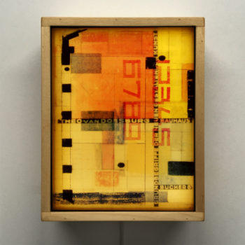Van Doesburg Architecture Study - Multiple Print Depth Effect - 11x9 Led Lightbox by Mini-Cinema