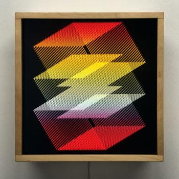 Diamonds Graphic Art Optical Illusion - 12×12 Lightbox by Mini-Cinema / Hugo Cantin