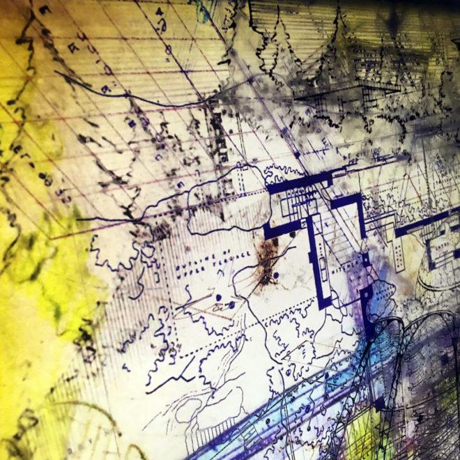 FLW Masterplan - Mid Century Architecture Sketches - 12x12 Lightbox