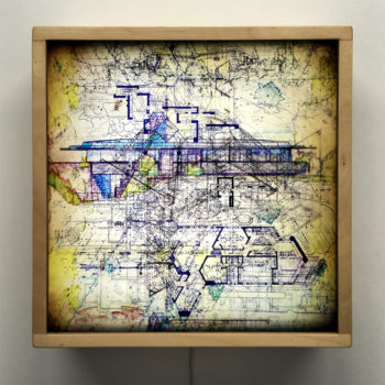 FLW Masterplan - Mid Century Architecture Sketches - 12x12 Lightbox