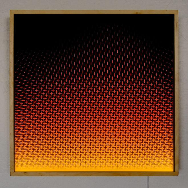 Plus Halftone Pattern Fuego - Graphic Art Optical Effect - 12×12 Lightbox