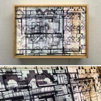 Habitat67 Masterplan #1 - Mid Century Architecture Sketches – 14×20 Lightbox