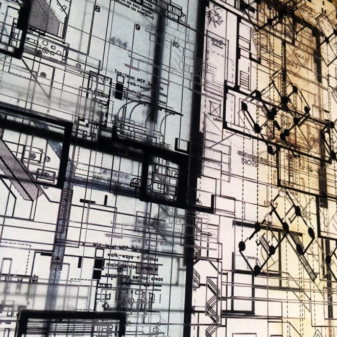 Habitat67 Masterplan #1 - Mid Century Architecture Sketches – 14×20 Lightbox