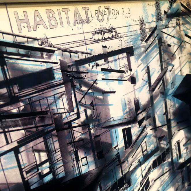 Habitat67 Masterplan #4 - Mid Century Architecture Sketches - 14x20 Lightbox
