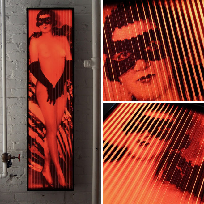Cabaret Moulin Rouge 1920s Paris - Vintage Erotica - Lofty 58x14 Lightbox by Mini-Cinema / Hugo Cantin