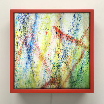 Rags-a-GoGo NYC Action Painting #2 - 12×12 Lightbox