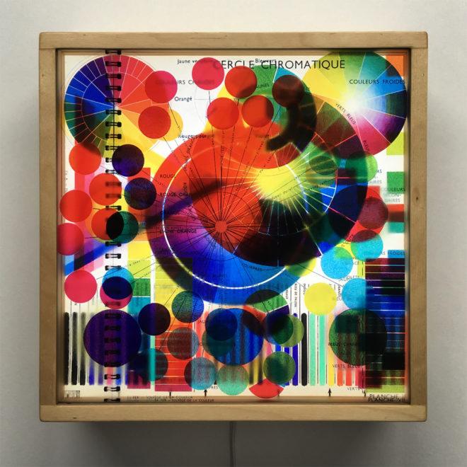 Solfege de Couleur - Multiple Print Depth Effect - 12x12 Lightbox