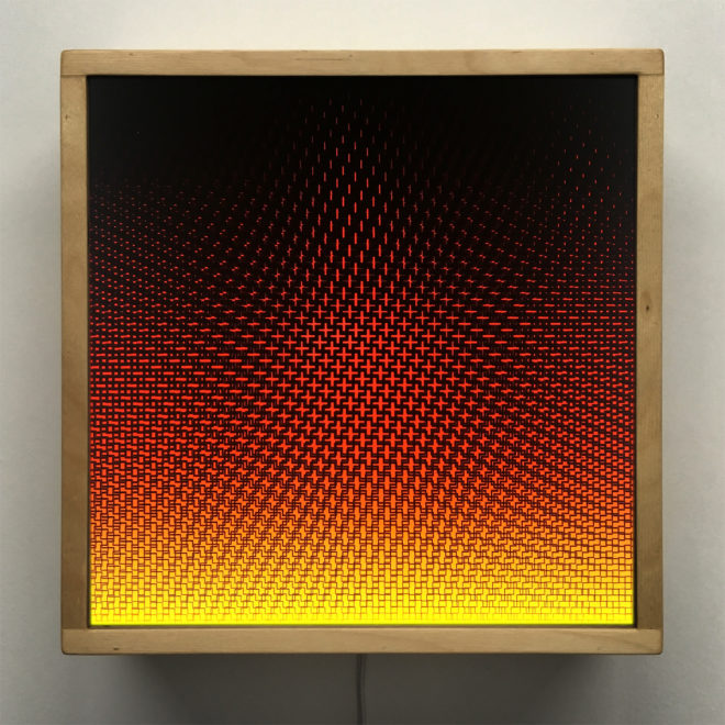 Plus Halftone Pattern Fuego - Graphic Art Optical Effect - 12×12 Lightbox