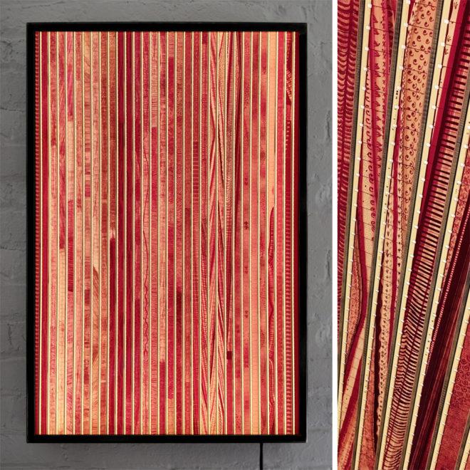-l202 -30x20 - Fiddle-De-Dee Remix 1947 Norman McLaren Animation - 16mm Film Collage Lightbox