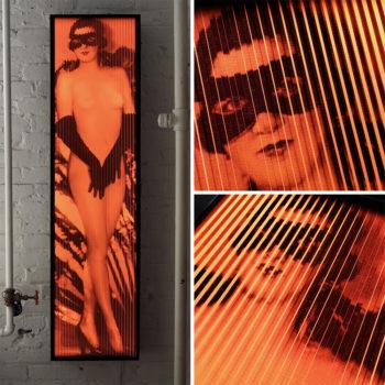 Cabaret Moulin Rouge 1920s Paris - Vintage Erotica - Lofty 58x14 Lightbox