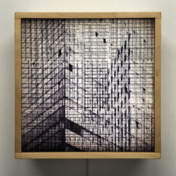 Structural Forms - Mid Century Architecture Sketches - 12x12 Lightbox