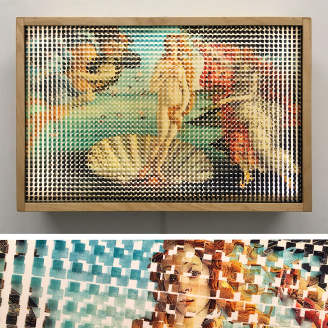 Pixelated Birth of Venus - Botticelli Homage - 12x18 Lightbox by Mini-Cinema