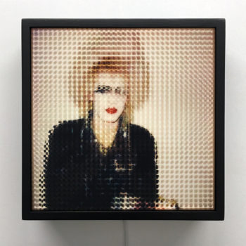 Pixelated 80s London Punk - Image Deconstruction - 12x12 Lightbox by Mini-Cinema