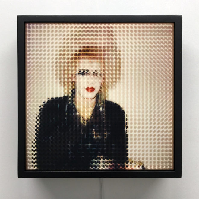 Pixelated 80s London Punk - Image Deconstruction - 12x12 Lightbox by Mini-Cinema