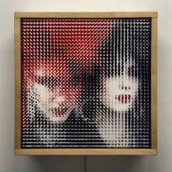 Pixelated 80s London Punk Girls - Image Deconstruction - 12x12 Lightbox by Mini-Cinema