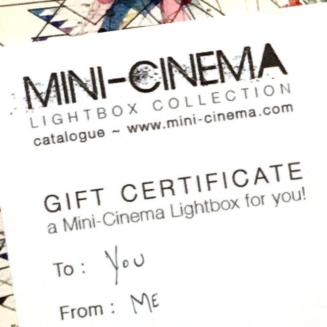 Min-Cinema lightboxes - Gift Certificate