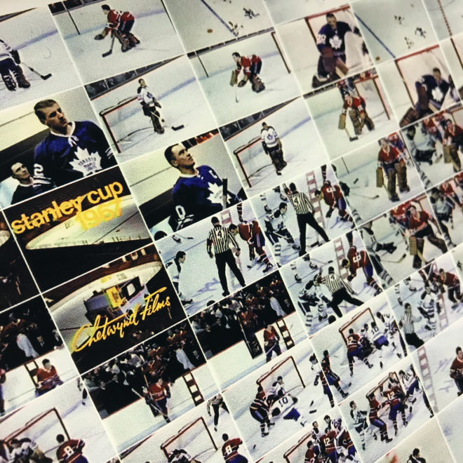 Hockey 1967 Stanley Cup Finals - Habs vs Leafs - 12x18 Lightbox by Mini-Cinema