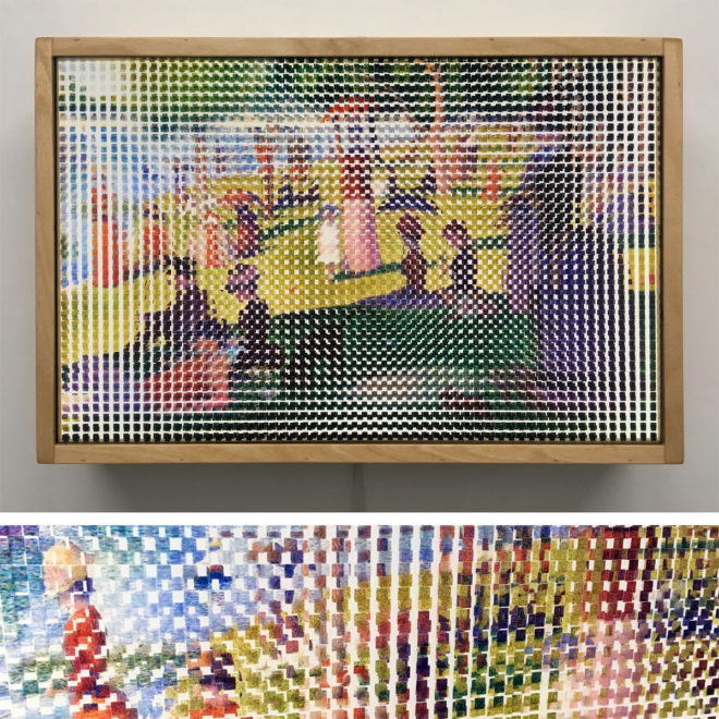 Pixelated Sunday Afternoon - Seurat Homage - 12x18 Lightbox by Mini-Cinema