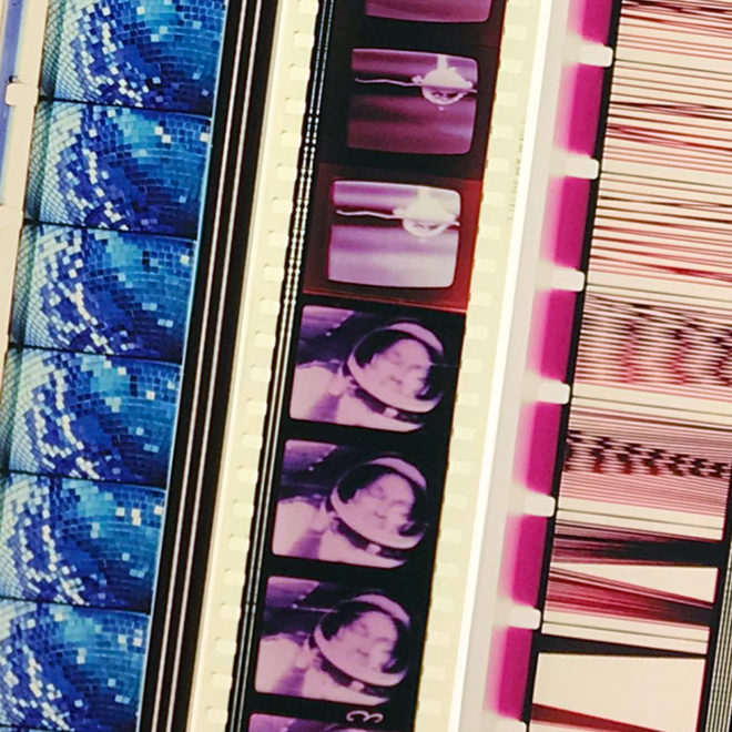 Film Strip Blow-up 7-8-9 - Long Slim 46x4 Lightbox