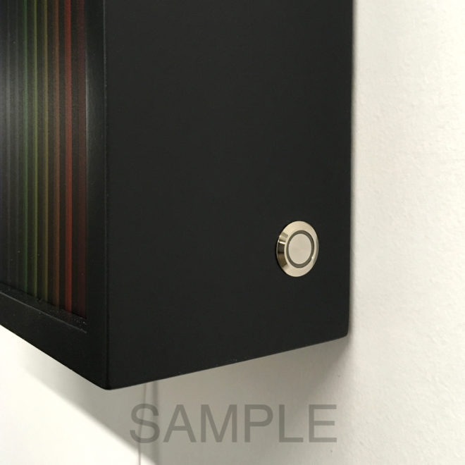 Touch Dimmer Switch + MDF Colored Frames by Mini-Cinema / Hugo Cantin