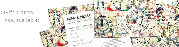 Min-Cinema lightboxes – Gift Certificate