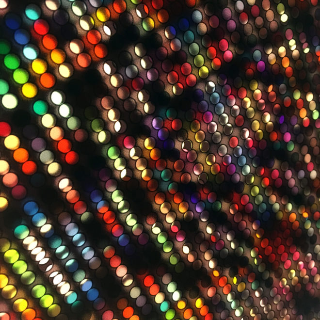 Lite Brite #0 - Colorful Dots Optical Effect - 12×12 Lightbox by Mini-Cinema / Hugo Cantin