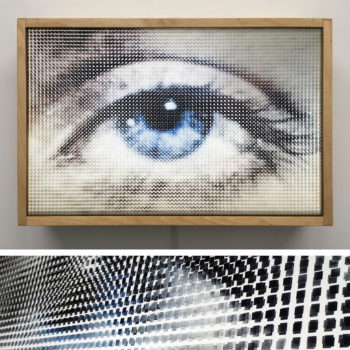 Pixelated Lee Miller Eye - Man Ray Homage - 12x18 Lightbox by Mini-Cinema