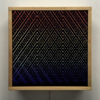 Rainbow Pattern Network #2 - Layered Prints Optical Effect - 12×12 Lightbox by Mini-Cinema / Hugo Cantin