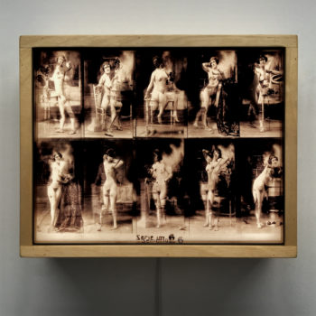 1880s Louis Igout Academic Female Nude Study - 9x11 Lightbox by Mini-Cinema
