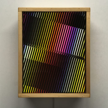 Prismacolor Interference #6 Rainbow Optical Effect - 11×9 Lightbox by Mini-Cinema / Hugo Cantin