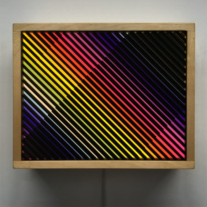Prismacolor Interference #7 Rainbow Optical Effect - 9x11 Lightbox by Mini-Cinema / Hugo Cantin
