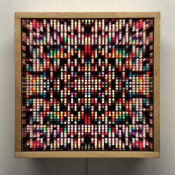 Lite Brite #0 - Colorful Dots Optical Effect - 12×12 Lightbox by Mini-Cinema / Hugo Cantin