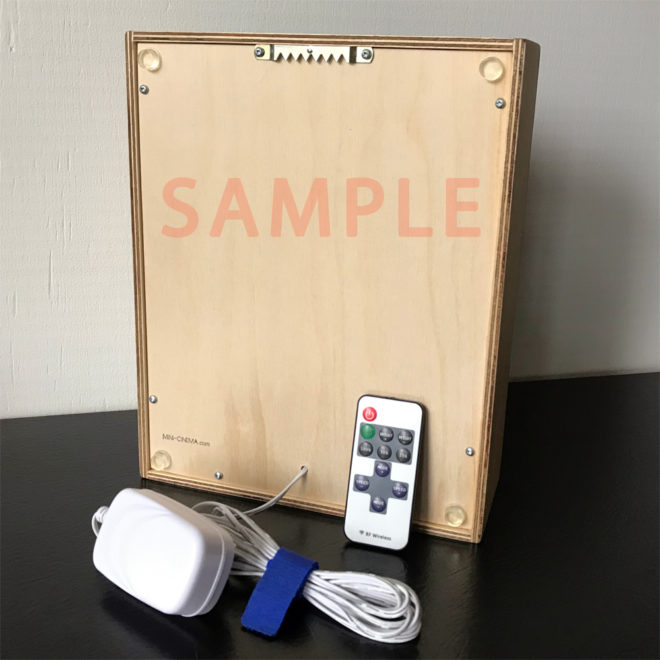 11x9 Plywood back panel + remote dimmer