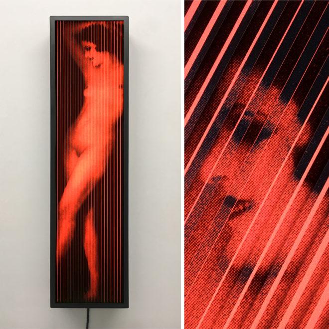 Vanishing Anita Berber 1920s Berlin - Vintage Erotica - 28x7 Lightbox by Mini-Cinema / Hugo Cantin