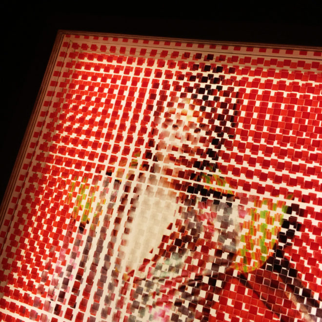 Pixelated Ziggy Stardust - Bowie Homage - 11x9 Lightbox by Mini-Cinema / Hugo Cantin