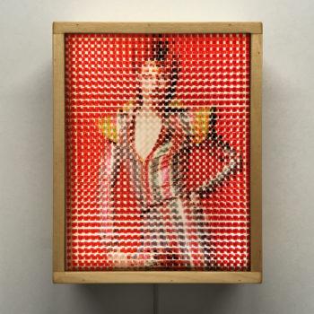 Pixelated Ziggy Stardust - Bowie Homage - 11x9 Lightbox by Mini-Cinema / Hugo Cantin