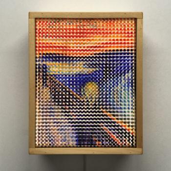 Pixelated Scream - Munch Homage - 11x9 Lightbox by Mini-Cinema / Hugo Cantin