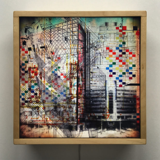 The Architect Masterplan - Multiple Print Depth Effect - 12×12 Lightbox by Mini-Cinema / Hugo Cantin
