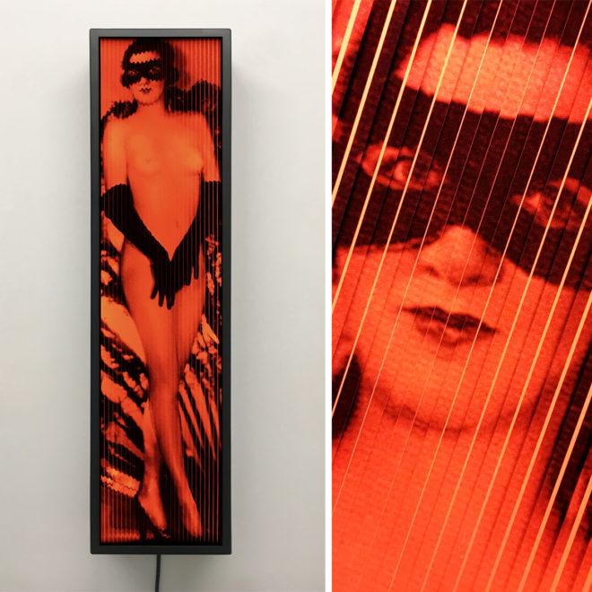 Cabaret Moulin Rouge 1920s Paris - Vintage Erotica - 28x7 Lightbox by Mini-Cinema / Hugo Cantin